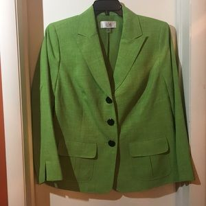 Le Suit Woman Chartreuse Colored Blazer Sz 14W